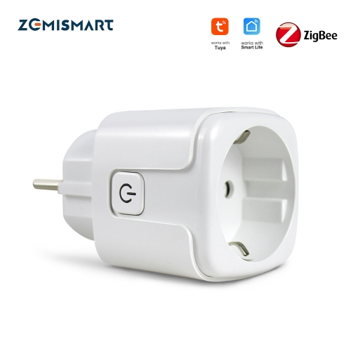 Zemismart ZigBee Smart Plug Power Socket Timing Function Home Voice Remote Tuya Smart Life APP Control With Alexa Google Home