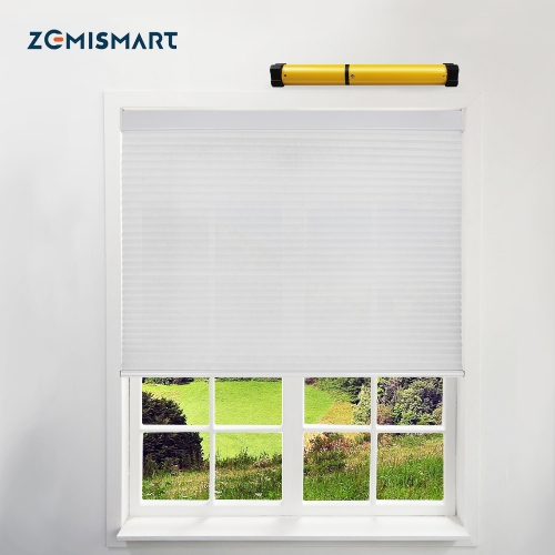 Zemismart Tuya WiFi Electric Cellular Shade Customized Honeycomb Blind Built in battery Alexa Google Home Timer Control