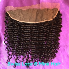 Mink Hair Lace Frontal Deep Curly Hair Closure