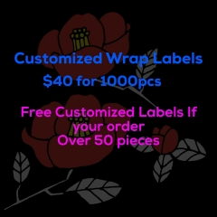 Ballice Virgin Hair Customized Wrap Labels Affordable Price Size 11*3cm