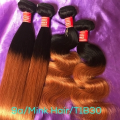 Mink Brazilian Hair Ombre Hair Extension Body Wave & Silky Straight