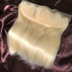 Platinum Blonde Hair Lace Frontal Straight Texture