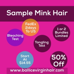 Mink Hair Sample Order for New Buyer Body Wave/Silky Straight/Jerry Curl/Deep Wave