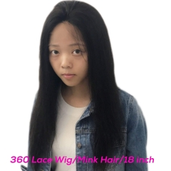 360 Lace Frontal Wig Mink Straight Hair Factory Sales Directly