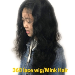 360 Lace Frontal Wig Mink Hair Body Wave