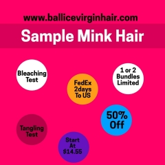 9A Mink Hair Sample Order for New Buyer Body Wave/Silky Straight/Jerry Curl/Deep Wave