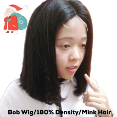 Mink Brazilian Hair Straight Bob Wig Remy Human Hair Wig Full and Smooth Wig
