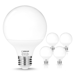 LOHAS G25 Daylight 5000k LED Bulbs, 75W-100W Equivalent(12W Incandescent Bulbs Replacement), E26 Medium Screw Base, Globe Shape, 1200 Lumens, Non-Dimm