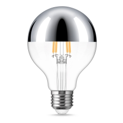 LOHAS Dimmable G25 Silver Bowl Filament Vintage Light Bulbs, 4W(40W Equivalent), E26 Base Edison LED Filament Light Bulbs