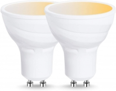 LOHAS GU10 LED Light Bulb 50 Watt Equivalent, Smart WiFi Track Light Bulbs Compatible with Alexa Google Home, 5W Dimmable 2700K-6000K, 2 Pack
