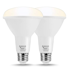LOHAS Smart BR30 LED, Compatible with Alexa, Google Home, Siri,E26 Base, Daylight 5000K 75-80W Equivalent, Dimmable, 2 Pack