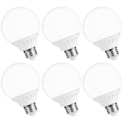 LOHAS LED Vanity Light Globe Bulbs, E26, 40-45W, G25 Bulbs Daylight 5000k, Not-Dimmable, 6 Pack