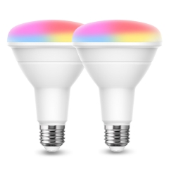 LOHAS Smart Light Bulb, BR30 LED Color Changing Bulbs, 9W(65W Equivalent) 900LM, Non-dimmable, 2 Pack