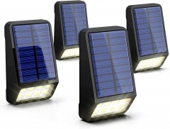 LOHAS Solar Lights, Outdoor Solar Fence Post Lights, IP65 Waterproof, Daylight White 6000K Auto on/Off (4PACK)