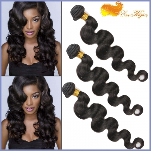 3pcs/lot 8A Unprocessed Peruvian Human Hair Body Wave Virgin Hair 3 Bundles Natural Color Hair Weaves