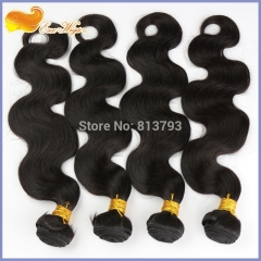 7A Virgin Hair 4 Bundles Virgin Brazilian Body Wave Natural Color Brazilian Virgin Hair Weave Bundles