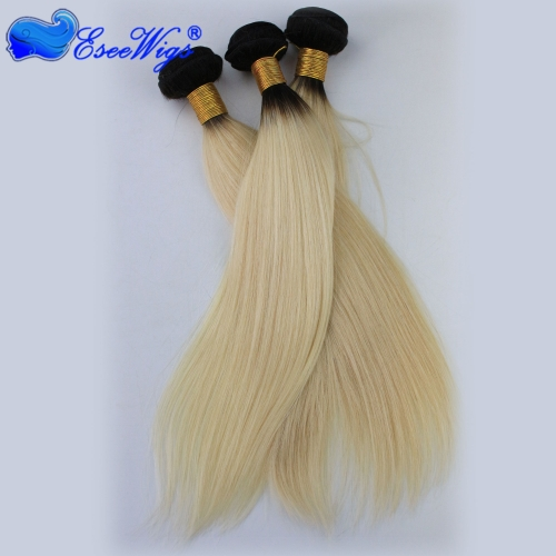 Blonde Brazilian Hair Straight 3 Bundle Deals 1BT613 Blonde Virgin Hair Platinum Blonde Virgin Hair Honey Blonde Brazilian Hair