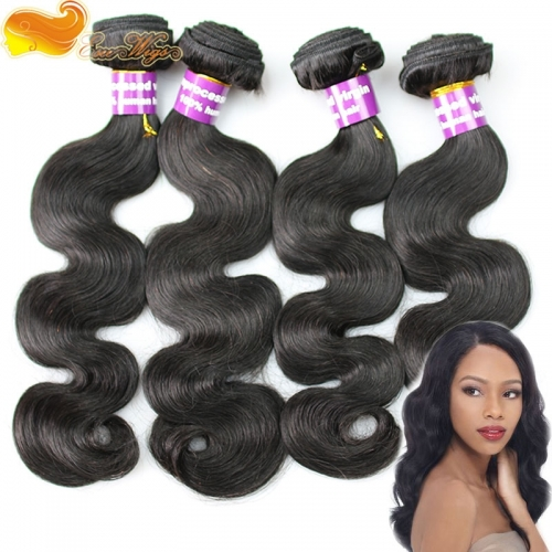 4pcs lot Brazilian Virgin Hair Extensions 4 bundles brazilian body wave 100 Human Hair