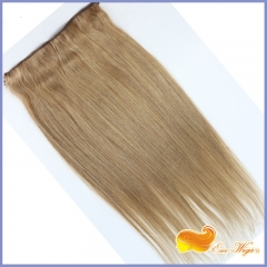 Free Shipping 1pc Flip Hair For White Women Cambodian Virgin Hair Straight Human Hair Fish Line Hair Extension