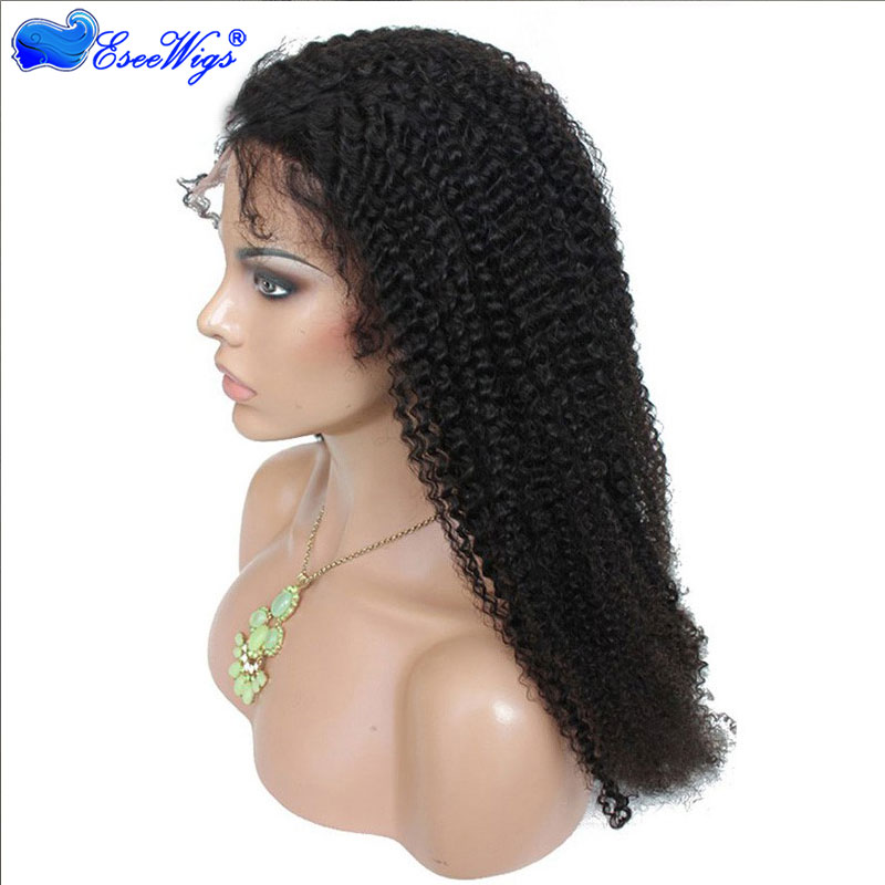 360 Lace Wigs Afro Kinky Curly Mongolian Virgin Hair Full Lace Wigs ...