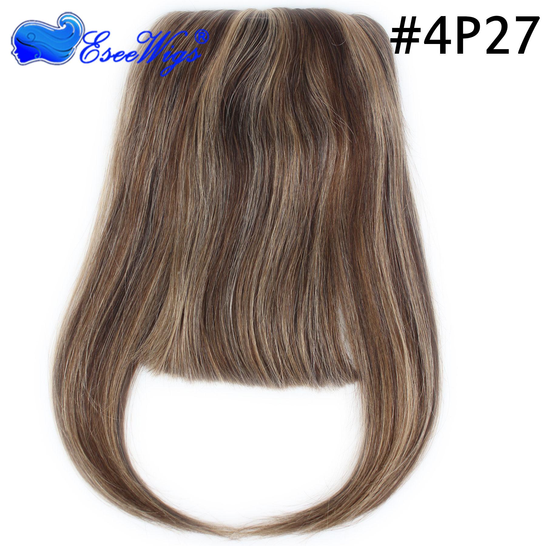 30 Color Brazilian Human Hair Clip In Hair Bang Full