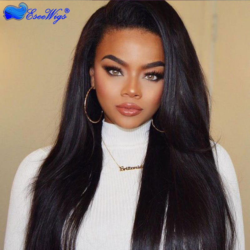 150 Density Lace Front Ponytail Wigs Human Hair High Ponytail Full Lace Wigs For Black Women ...