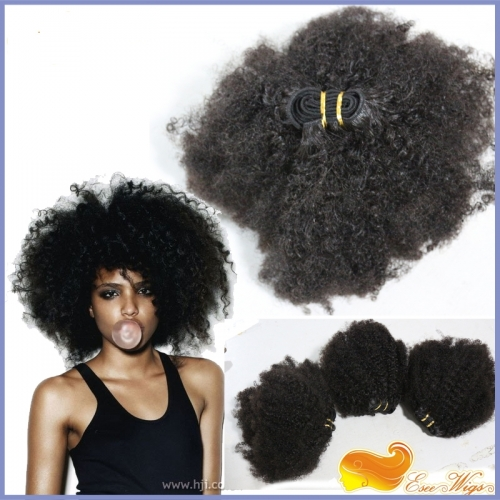 8A Grade 3pcs Lot  Mongolian Afro Kinky Curly Virgin Hair 100% Human Hair Weaves Natural Black Afro Hair Bundles Free Shipping