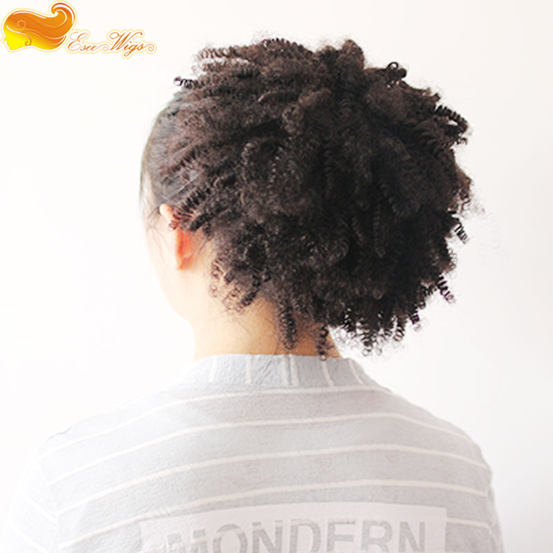 Afro Kinky Curly Ponytail Hair Extension With Combs