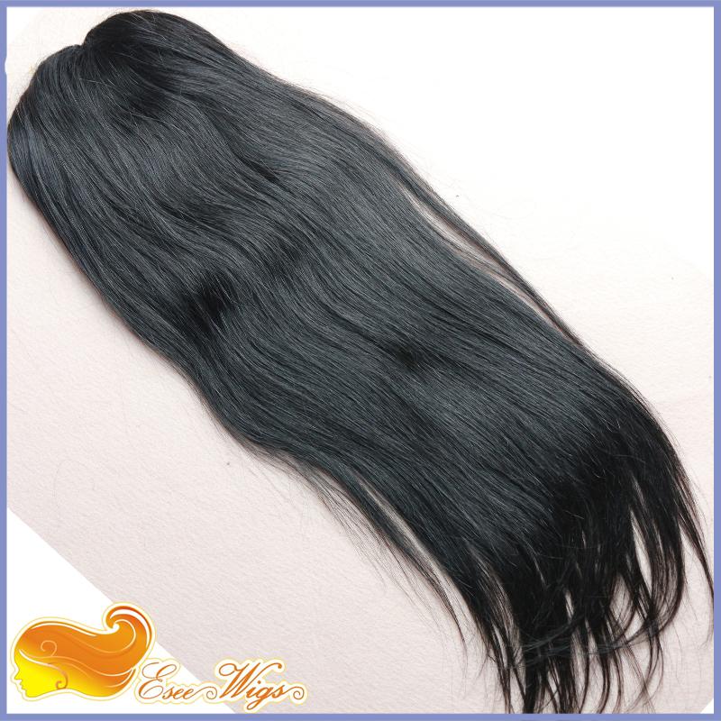 Long Straight Ponytail Wrap Hair Extension Natural Black Hair Clip