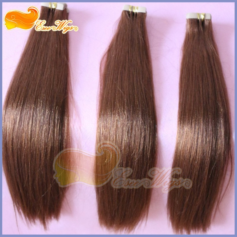 Colored Tape In Hair Extension European Hair Weave Straight