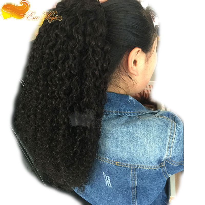 Water Wave Ponytail Wrap Hair Extension Clip In Ponytail