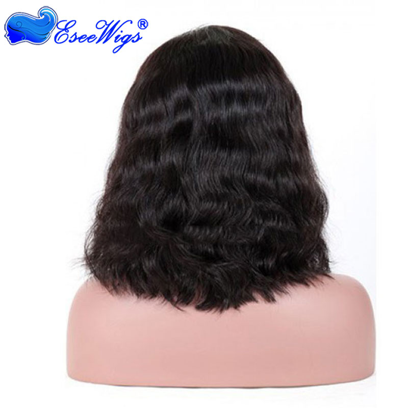 8a Glueless Full Lace Wigs Bob Cut And Baby Hair Kim Kardashian Wavy