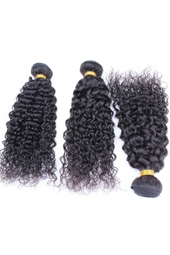 Natural Color Brazilian Curl Brazilian Remy Human Hair Weave 3pcs Bundles