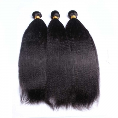 Brazilian Remy Hair Italian Yaki Human Hair Weaves 3Bundles Natural Color