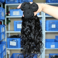 Natural Color Wet Water Wave Brazilian Virgin Human Hair Weave 4pcs Bundles