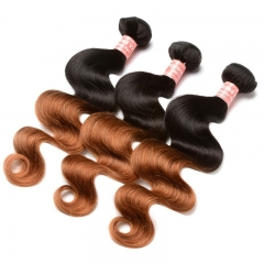 Body Wave 1B/30 Ombre Color Brazilian Virgin Human Hair Weave 4 Bundles