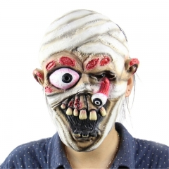 Scary Falling Eye Bold Head Zombie Mask