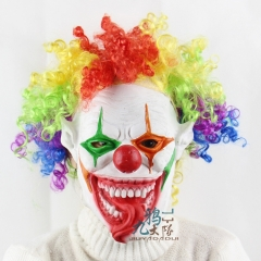 Halloween Cosplay Snake Tonge Scary Evil Clown Mask Ship from USA