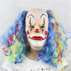 Colorfull Hair Cosplay Clown Mask
