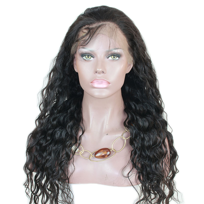 Affordable Full Lace Wig Deep Wave Brazilian