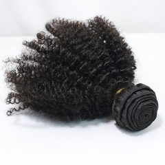 Afro Kinky Curly Brazilian Virgin Hair 1 Pcs Brazilian Hair Weave Bundles 8A Honey Beauty Hair Products Curly Human Hair Extensions
