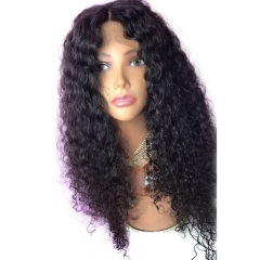 Pre-Plucked Full Lace Silk Base Human Hair Wigs Deep Wave Brazilian Lace Wigs Natural Hair Line