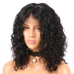 Full Lace Human Hair Wigs Deep Curly Malaysian Wig With Natural Hairline Baby Hair 130% Density