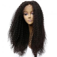 Glueless Full Lace Wigs With Silk Top Pre-Plucked Kinky Curly Human Hair Wigs Natural Hair Linemalaysian Virgin Hair