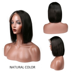 Short Bob Cut Wigs For Black Women Malaysia Vrigin Hair Lace Front Human Hair Wigs
