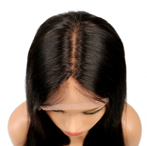 Silk Top Lace Wigs Bob Style Silk Base Full Lace Wigs For Cheap Short Straight 130% Density Brazilian Virgin Hair