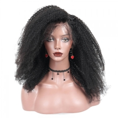 250% Density Afro Kinky Curly Lace Front Human Hair Wigs Brazilian Virgin Hair Full Lace Wigs