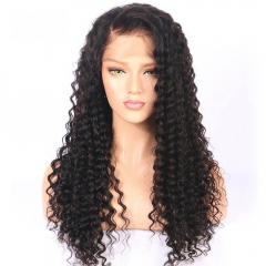 250% High Density 7A Human Hair Lace Front Wigs Full Lace Human Hair Wigs Black Women Deep Curly In Stock