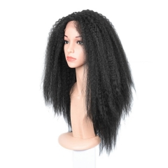 250% Density Wigs Kinky Straight Pre-Plucked Glueless Human Hair Lace Front Wigs Natural Hair Line for Black Women