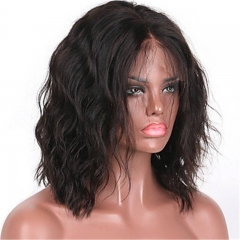 Deep Free Part 13x6 Lace Front Wigs Brazilian Remy Human Hair Glueless Natural Hairline Short Wavy Bob Lace Wigs for Black Women